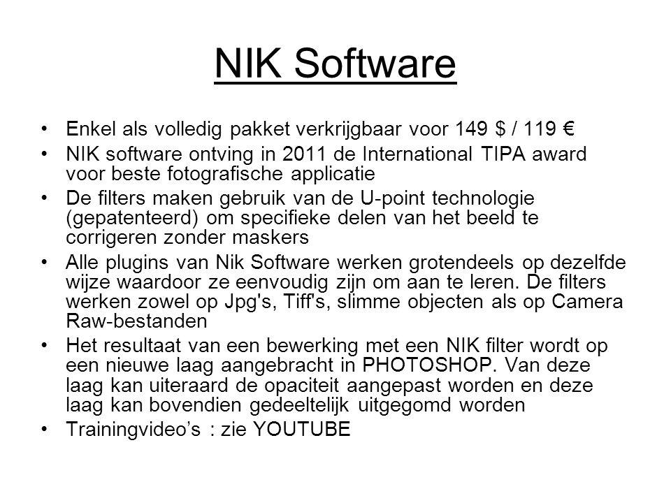 NIK Software Enkel als volledig pakket verkrijgbaar voor 149 $ / 119 €