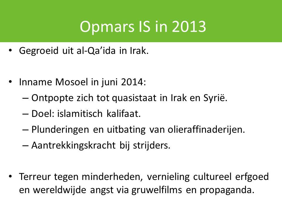 Opmars IS in 2013 Gegroeid uit al-Qa'ida in Irak.
