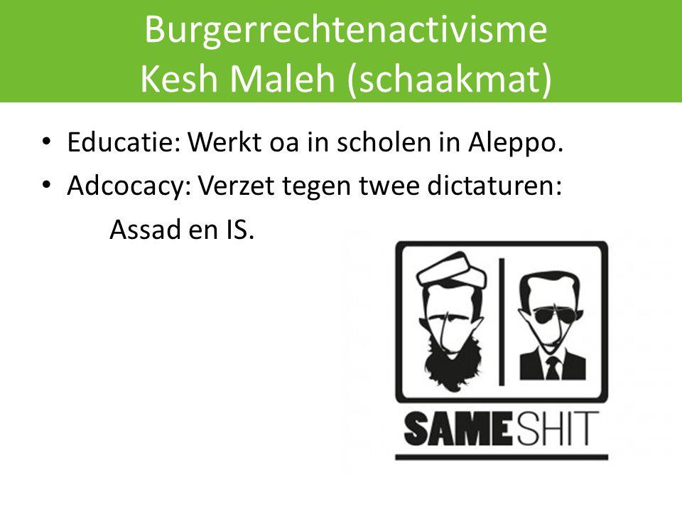 Burgerrechtenactivisme Kesh Maleh (schaakmat)