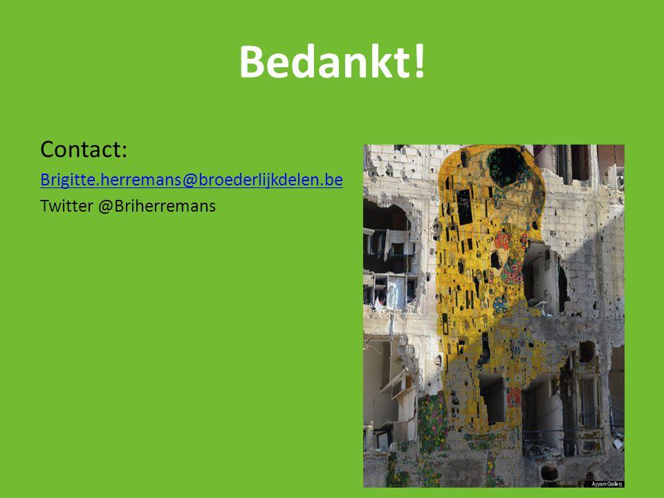 Bedankt! Contact: Brigitte.herremans@broederlijkdelen.be