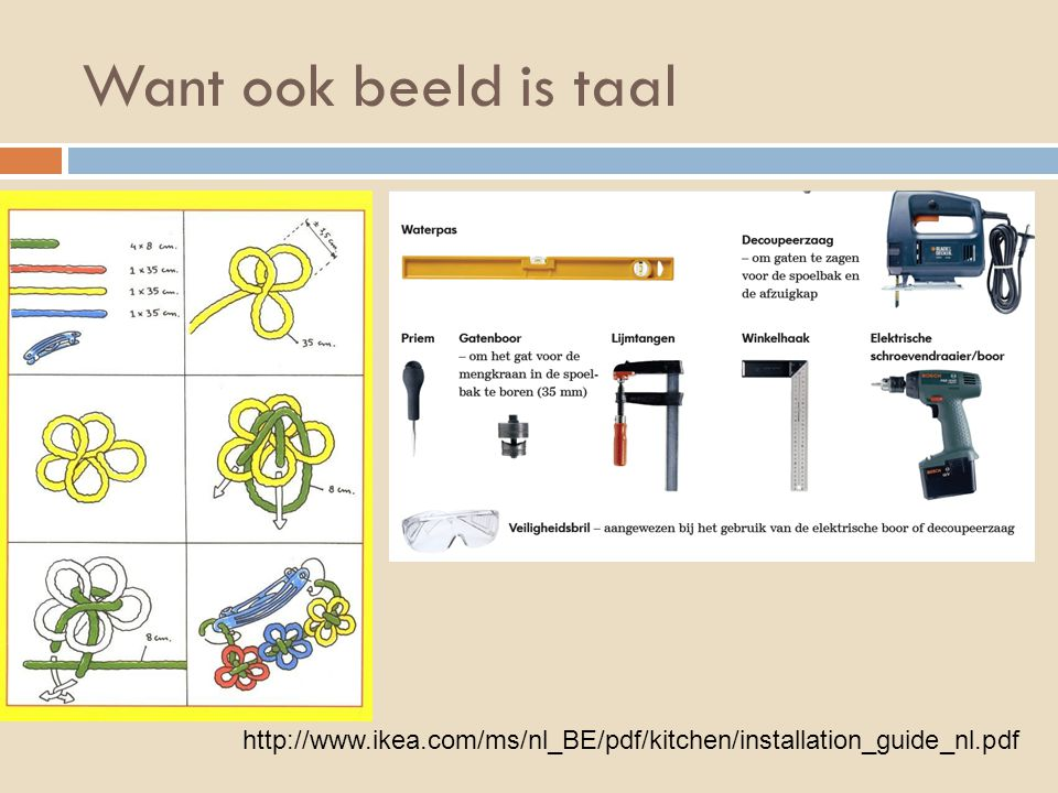 Want ook beeld is taal http://www.ikea.com/ms/nl_BE/pdf/kitchen/installation_guide_nl.pdf