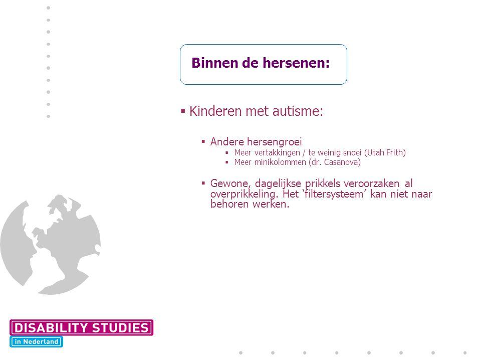 Binnen de hersenen: Kinderen met autisme: Andere hersengroei