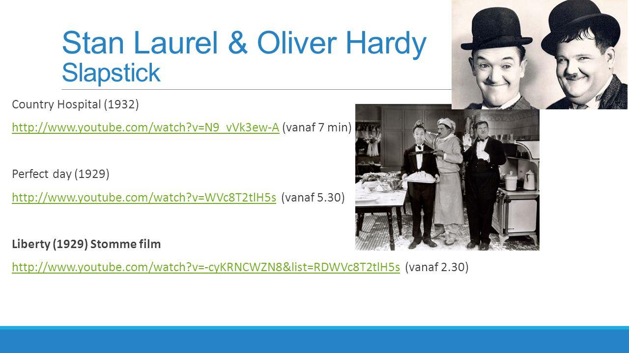 Stan Laurel & Oliver Hardy Slapstick