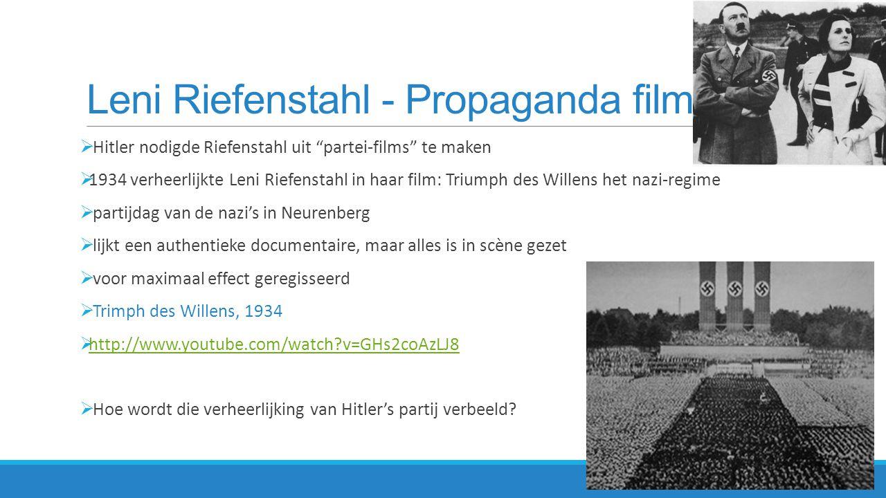 Leni Riefenstahl - Propaganda films