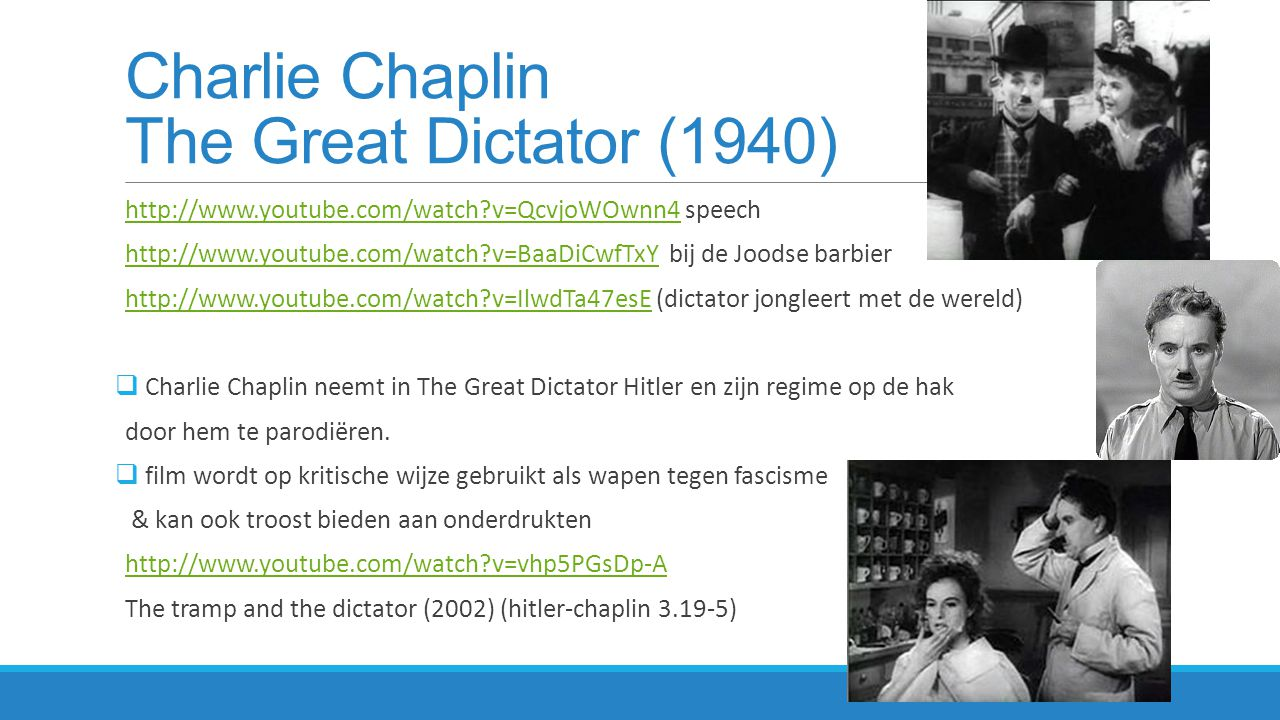 Charlie Chaplin The Great Dictator (1940)