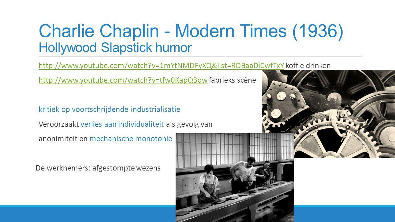 Charlie Chaplin - Modern Times (1936) Hollywood Slapstick humor