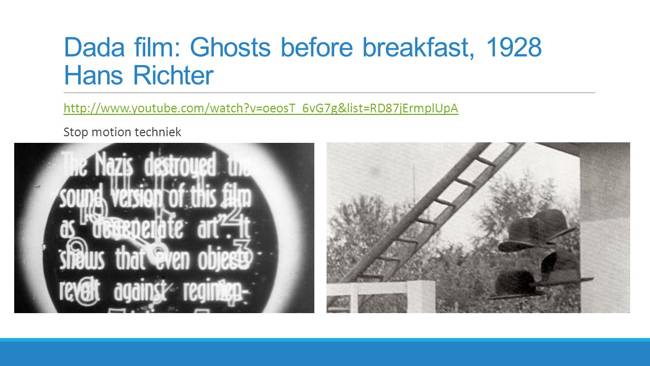 Dada film: Ghosts before breakfast, 1928 Hans Richter