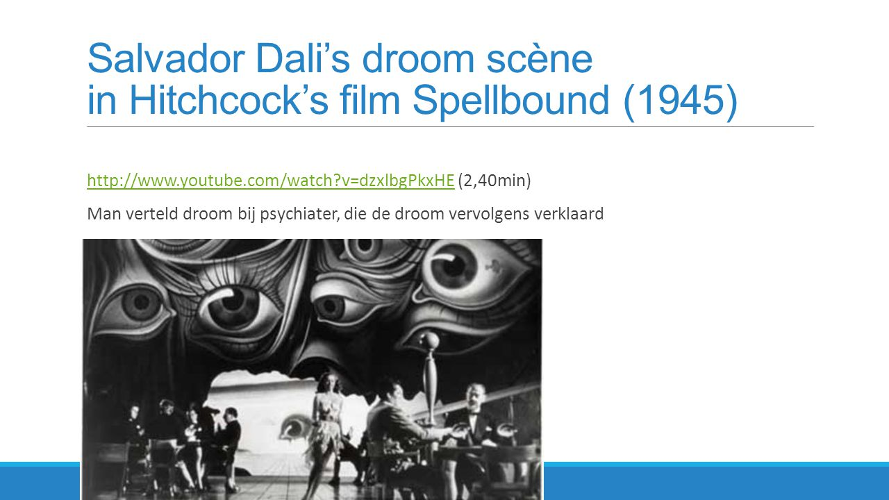Salvador Dali's droom scène in Hitchcock's film Spellbound (1945)