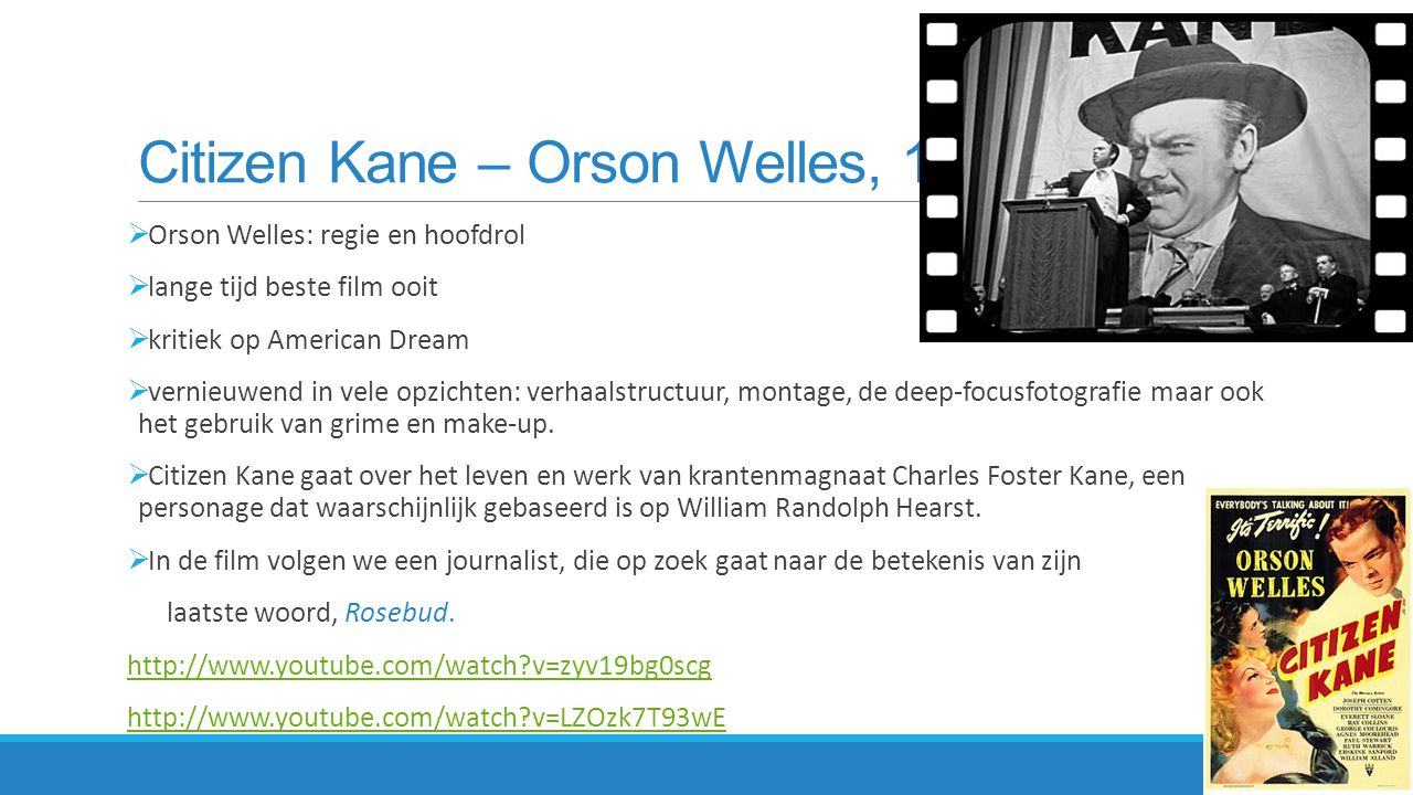Citizen Kane – Orson Welles, 1941
