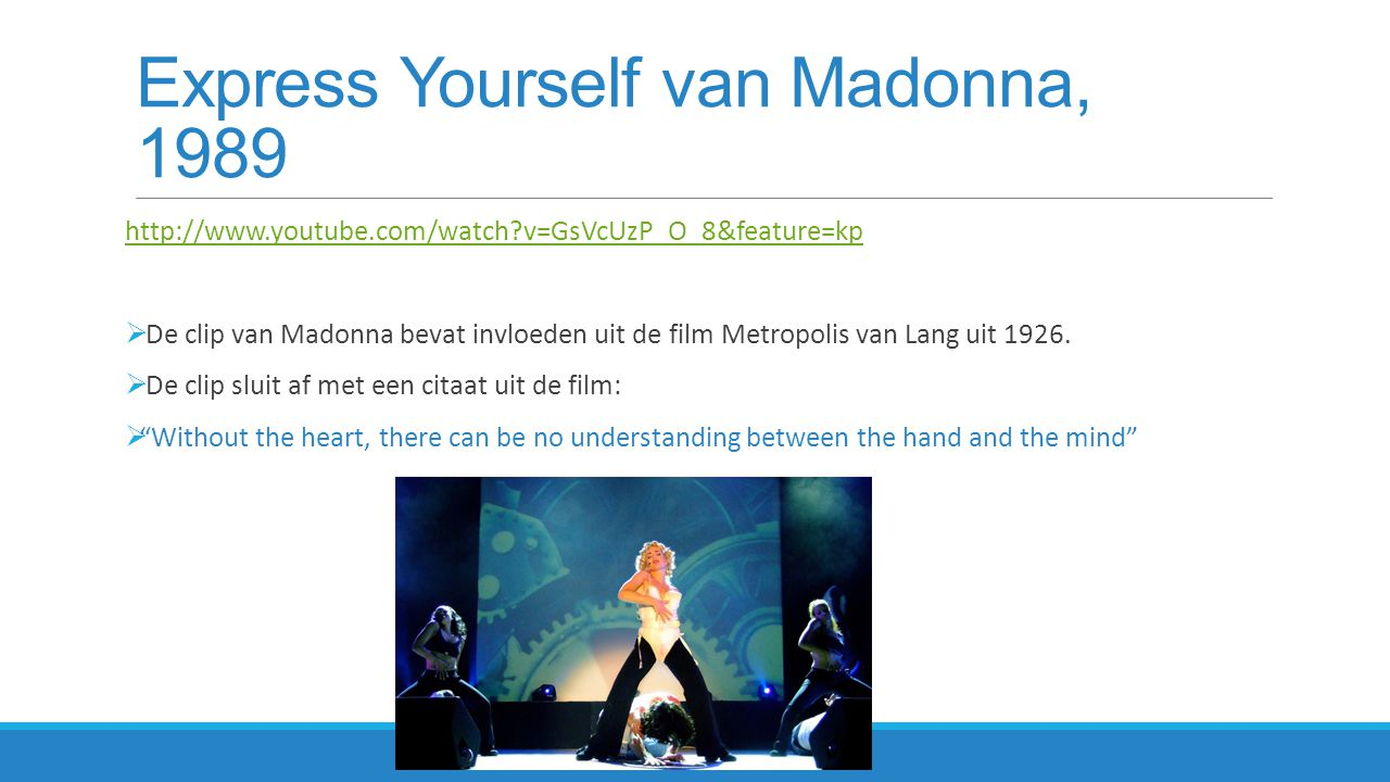 Express Yourself van Madonna, 1989