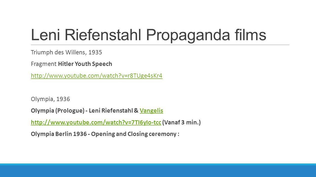 Leni Riefenstahl Propaganda films
