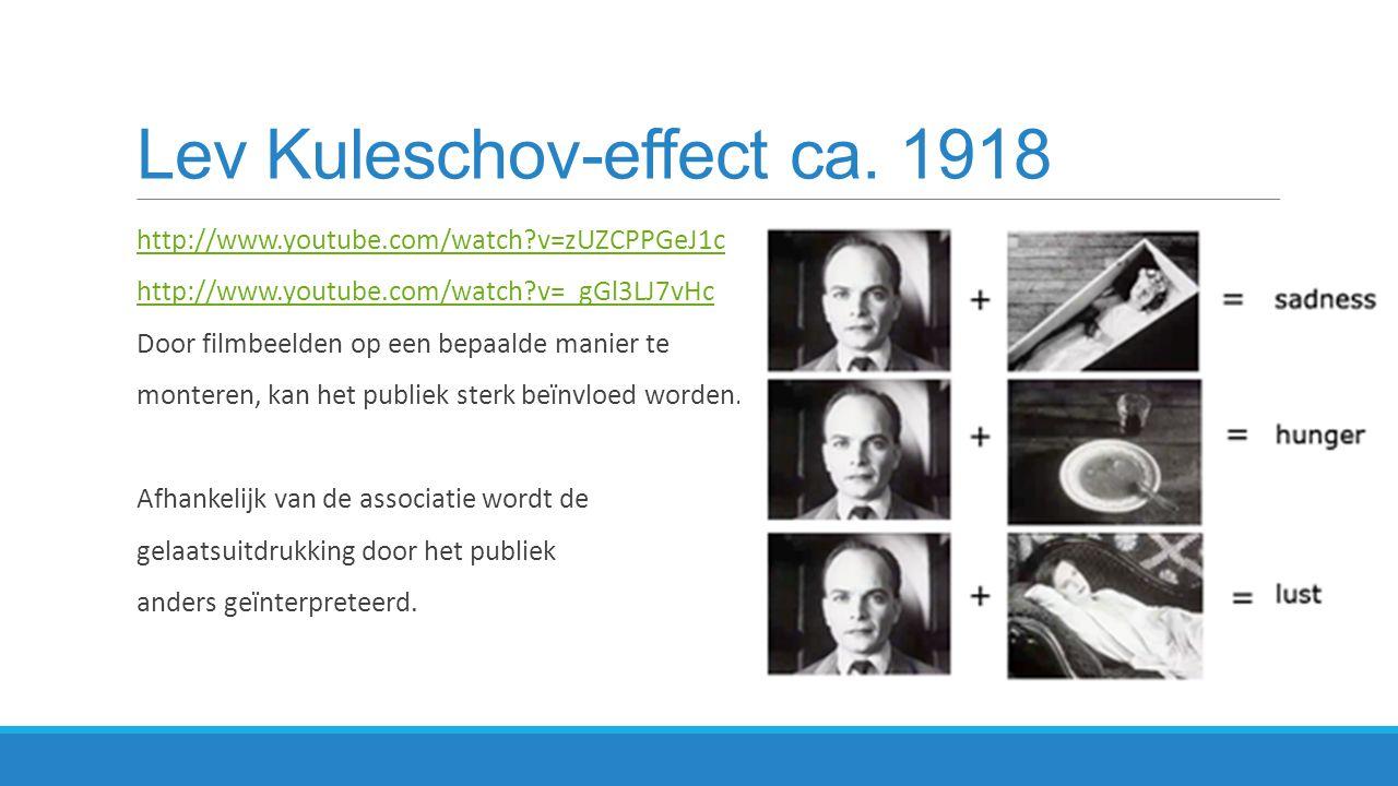 Lev Kuleschov-effect ca. 1918