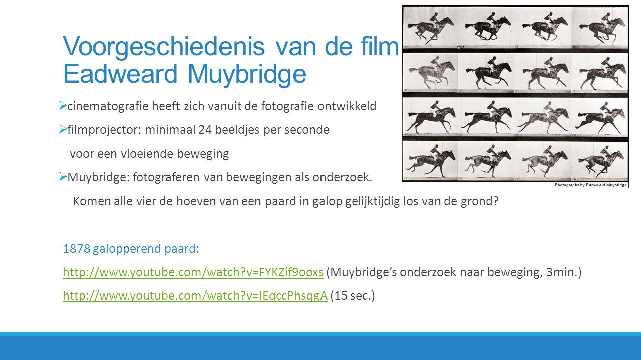Voorgeschiedenis van de film Eadweard Muybridge