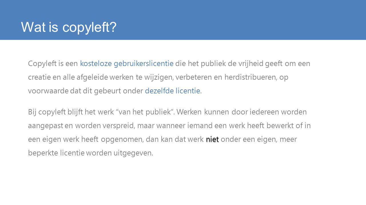 Wat is copyleft