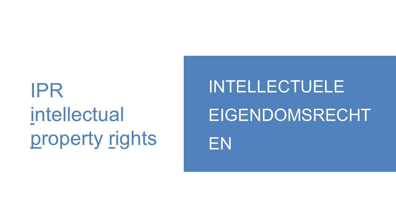 IPR intellectual property rights