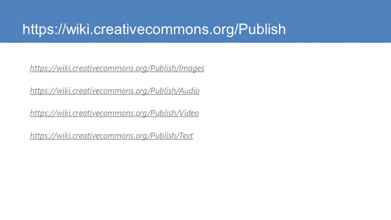 https://wiki.creativecommons.org/Publish