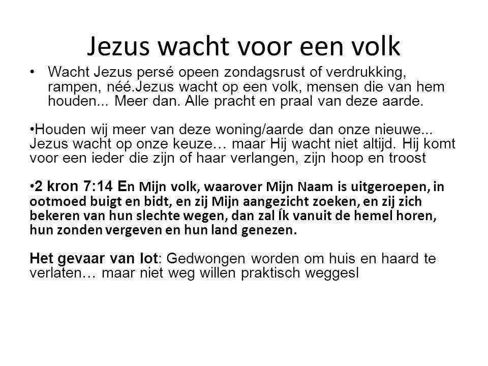 Jezus wacht voor een volk