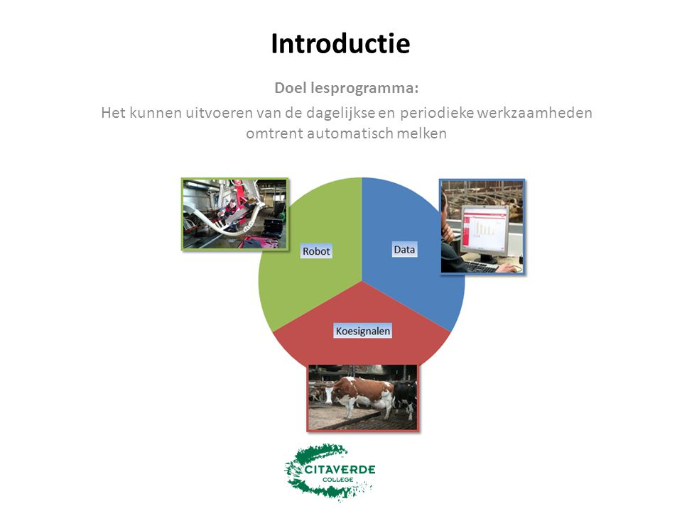 Introductie Doel lesprogramma: