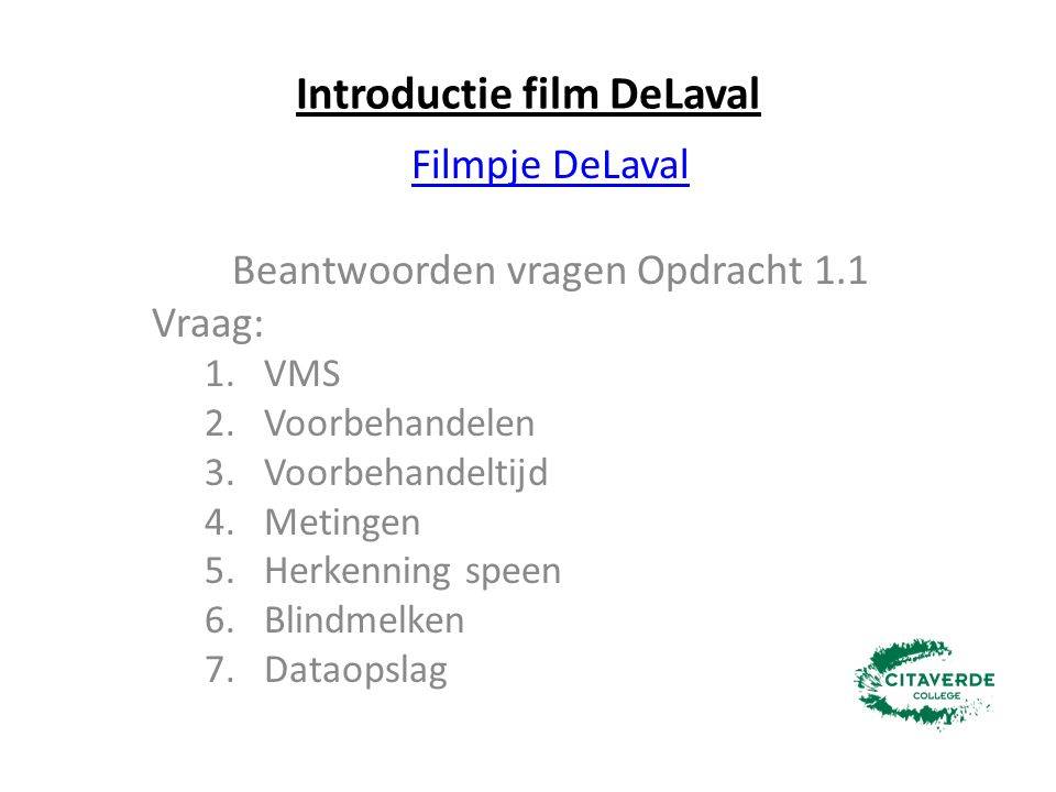 Introductie film DeLaval