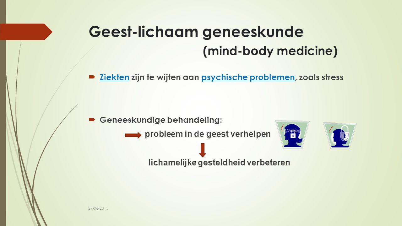 Geest-lichaam geneeskunde (mind-body medicine)