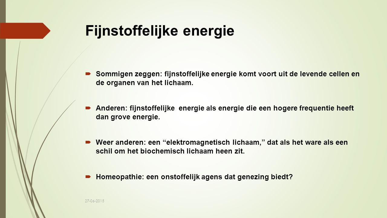 Fijnstoffelijke energie