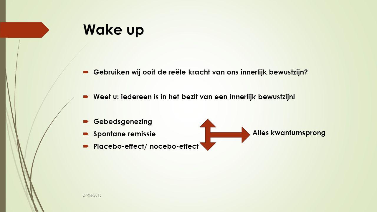 Wake up Gebruiken wij ooit de reële kracht van ons innerlijk bewustzijn Weet u: iedereen is in het bezit van een innerlijk bewustzijn!