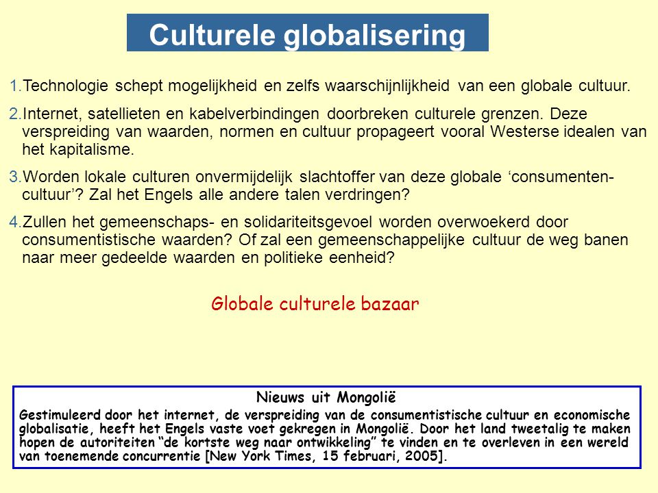 Culturele globalisering