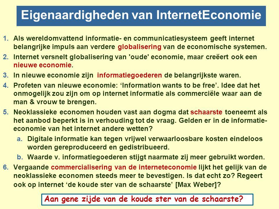 Eigenaardigheden van InternetEconomie
