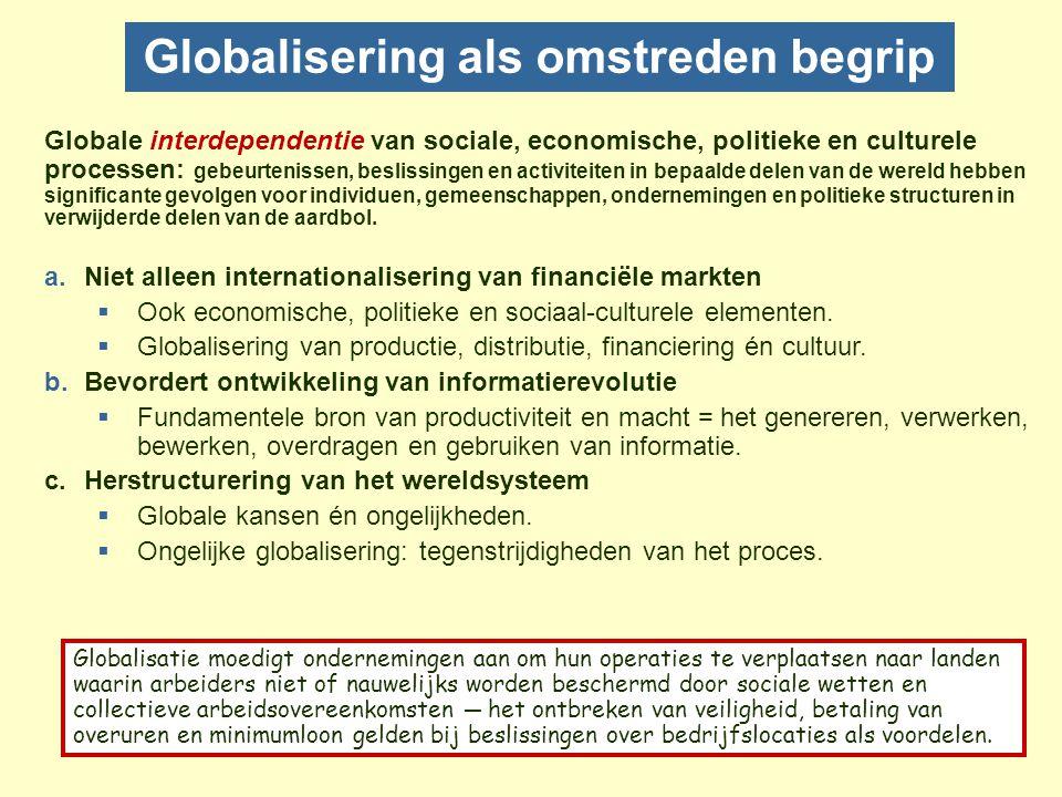 Globalisering als omstreden begrip