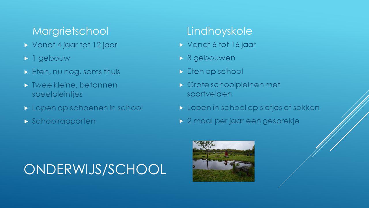 Onderwijs/school Margrietschool Lindhoyskole Vanaf 4 jaar tot 12 jaar