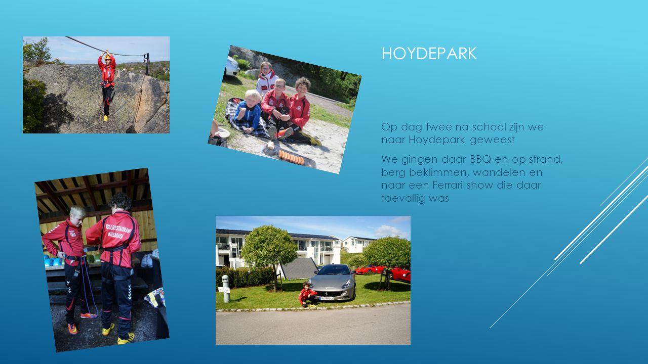 hoydepark Op dag twee na school zijn we naar Hoydepark geweest