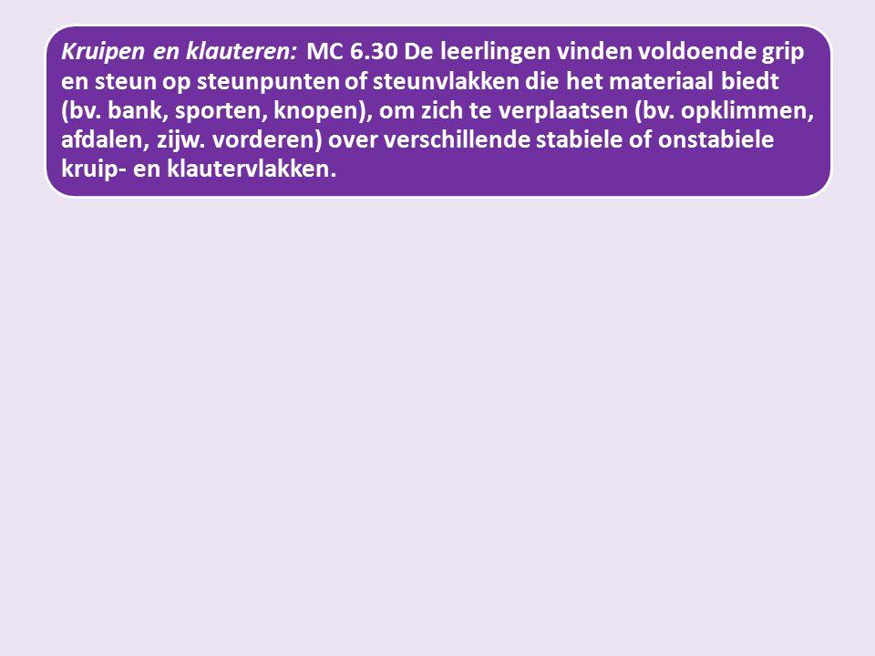 Kruipen en klauteren: MC 6