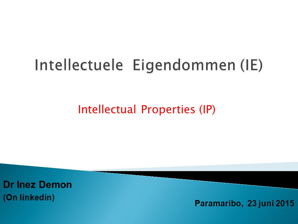 Intellectuele Eigendommen (IE)