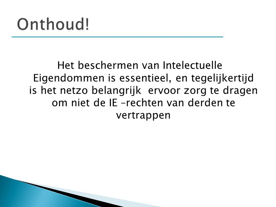 Onthoud!