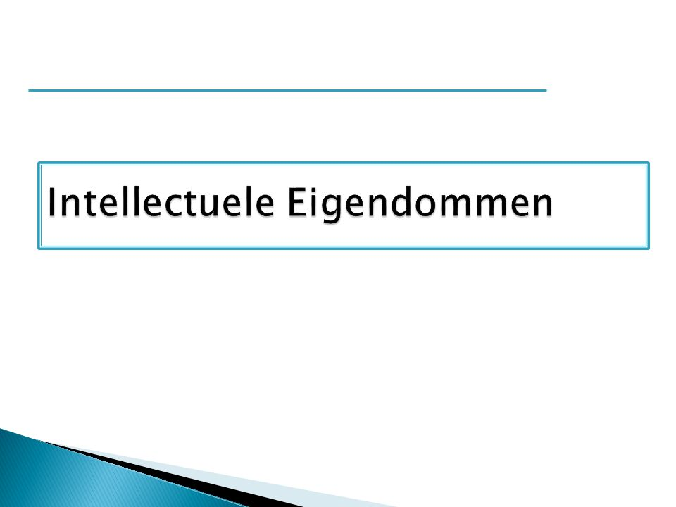 Intellectuele Eigendommen