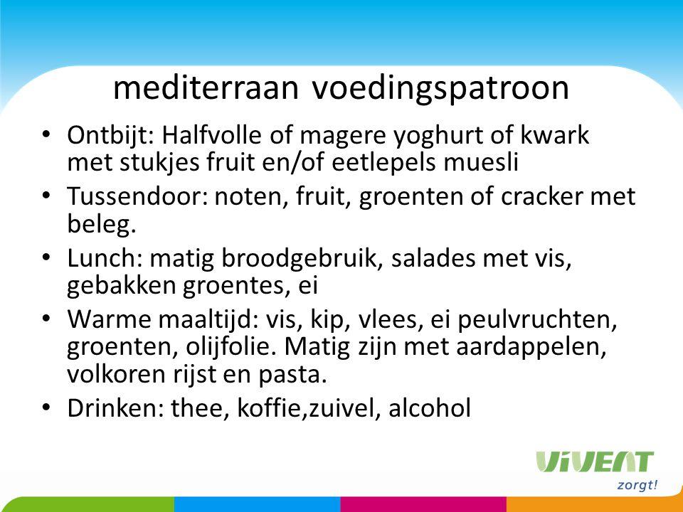 mediterraan voedingspatroon