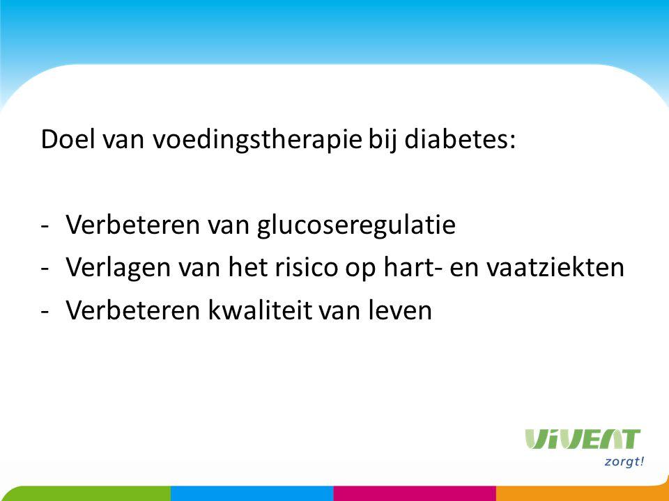 Doel van voedingstherapie bij diabetes:
