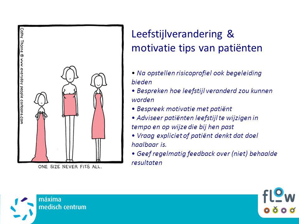Leefstijlverandering & motivatie tips van patiënten