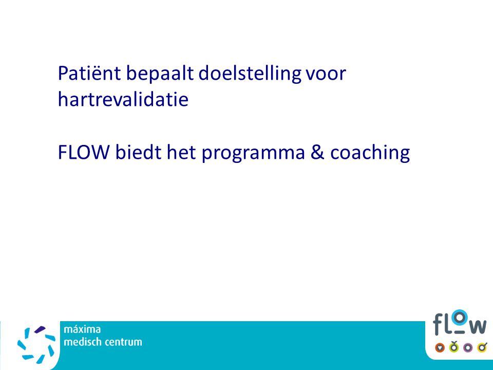 Patiënt bepaalt doelstelling voor hartrevalidatie FLOW biedt het programma & coaching