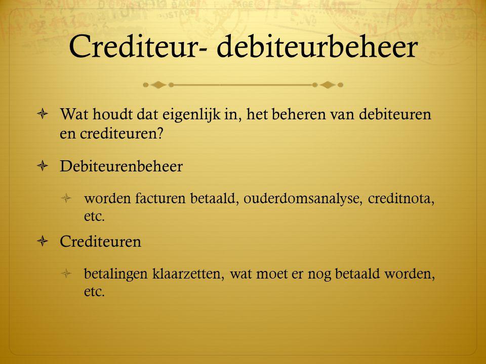Crediteur- debiteurbeheer