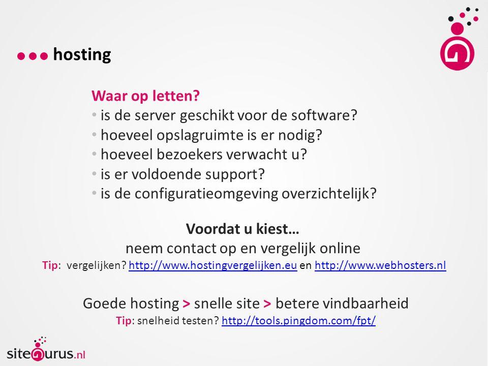 hosting Waar op letten is de server geschikt voor de software