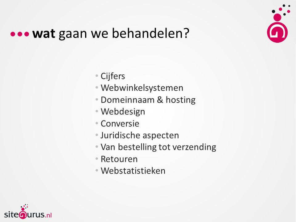 wat gaan we behandelen Cijfers Webwinkelsystemen Domeinnaam & hosting