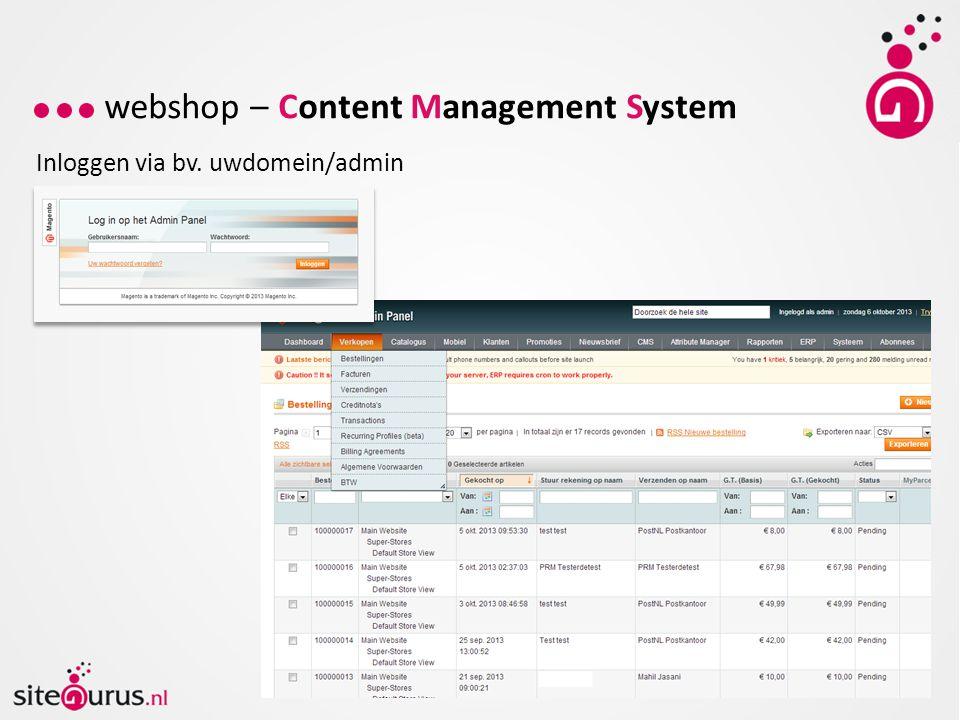 webshop – Content Management System