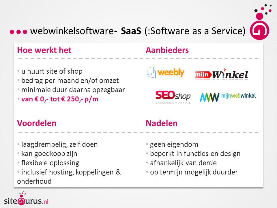 webwinkelsoftware- SaaS (:Software as a Service)