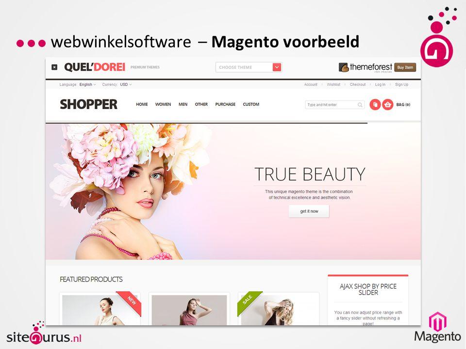 webwinkelsoftware – Magento voorbeeld