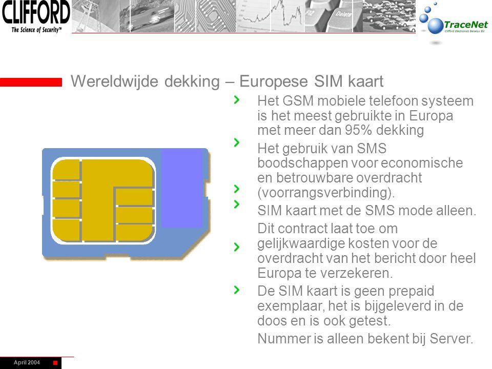 Wereldwijde dekking – Europese SIM kaart