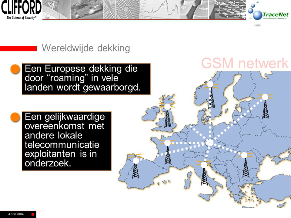 GSM netwerk Wereldwijde dekking