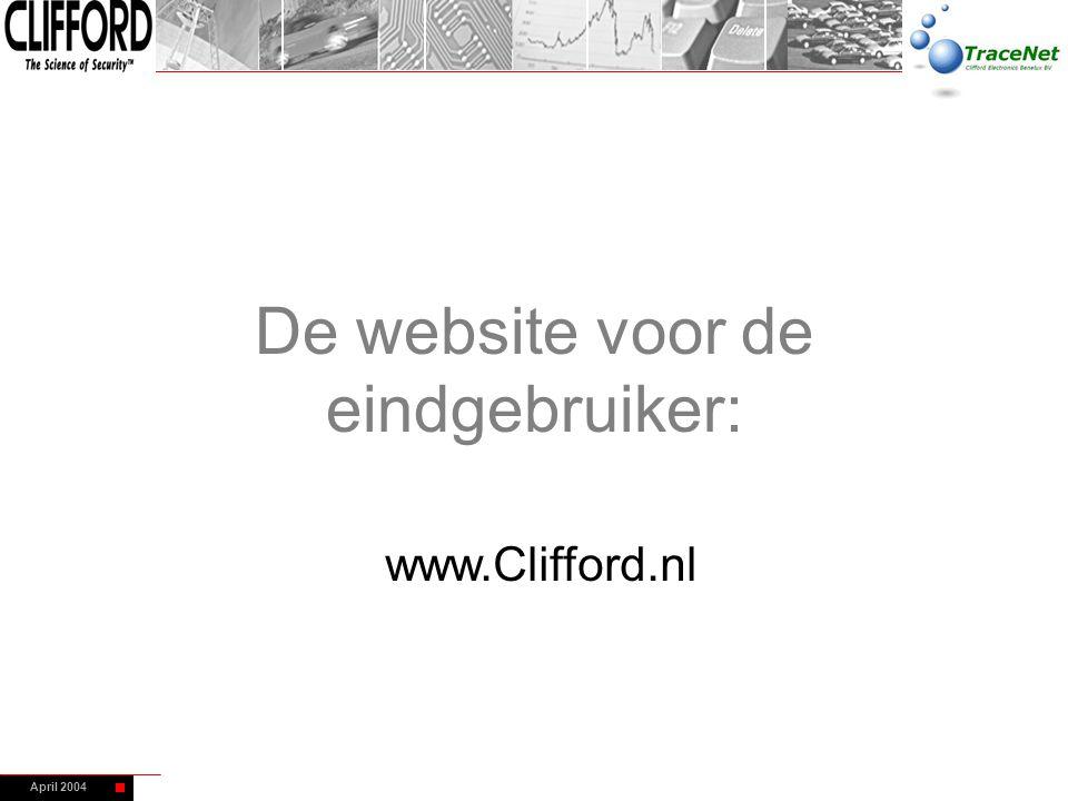 De website voor de eindgebruiker:
