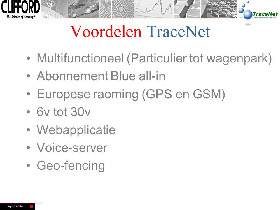 Voordelen TraceNet Multifunctioneel (Particulier tot wagenpark)