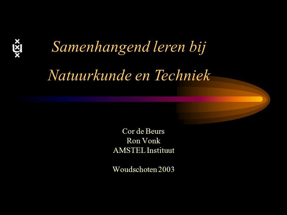 Cor de Beurs Ron Vonk AMSTEL Instituut Woudschoten 2003